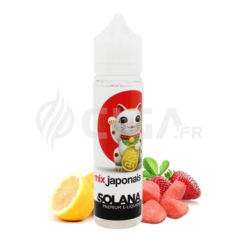 E-liquide Mix Japonais en 50ml de Solana.