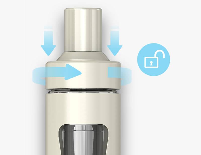 Ouverture et remplissage du modèle de cigarette électronique Ego Aio 1500mAh Eco Friend de Joyetech.