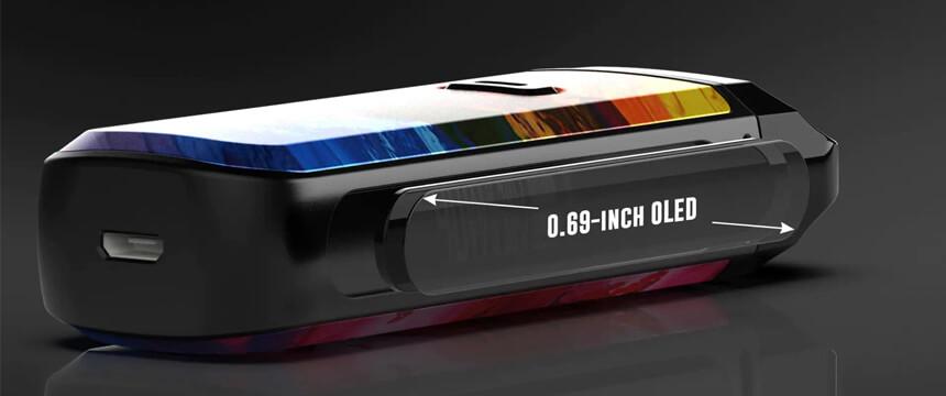 L'écran OLED de la e-cigarette Nord Pod 2.