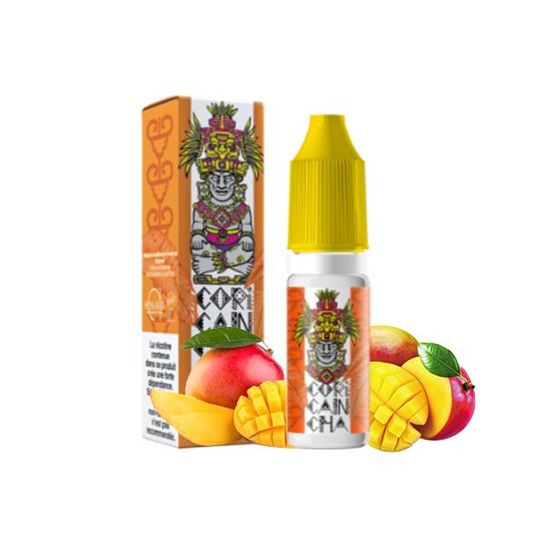 Photo du Mango 10 ml eliquide pour le vapotage Coricancha de la marque française Alfaliquid et fabriqués par la société Gaiatrend.
