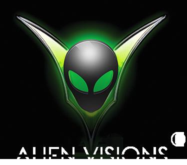 Logo de la marque américaine de eliquide pour le vapotage : Alien Visions.