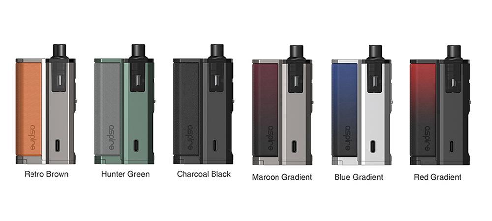 Présentation des différentes déclinaisons des kits de cigarettes électroniques Pod Nautilus Prime X d'Aspire.