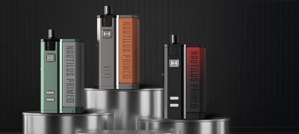 Photo de présentation du kit cigarettes électroniques Pod Nautilus Prime X d'Aspire.