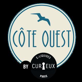 Logo de la gamme Côte Ouest par la marque de e-liquide français Curieux E-liquides.