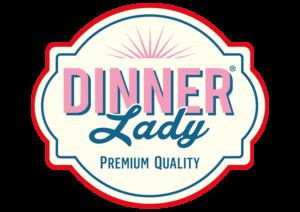 logo de la marque anglaise Dinner Lady de eliquides pour le vapotage.