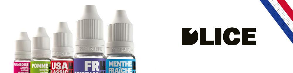 Bannière de la marque française de e-liquides Dlice.