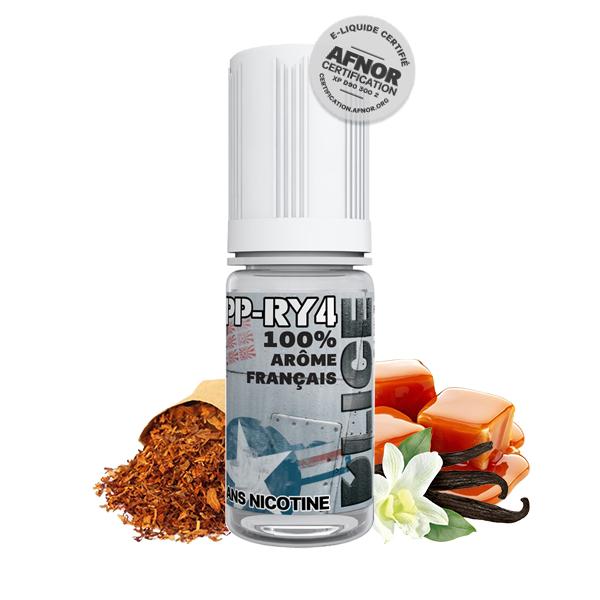 Photo du flacon du PP-RY4 10 ml de Dlice, marque française de e-liquide.