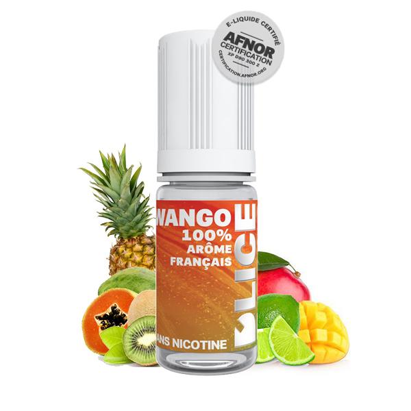Photo du flacon du Wango 10 ml de Dlice, marque française de e-liquide.