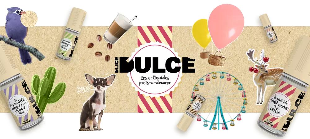 Bannière de la marque de eliquides français premiums Dulce