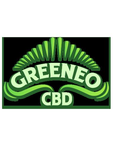 Logo de la marque de e-liquides CBD Greeneo.