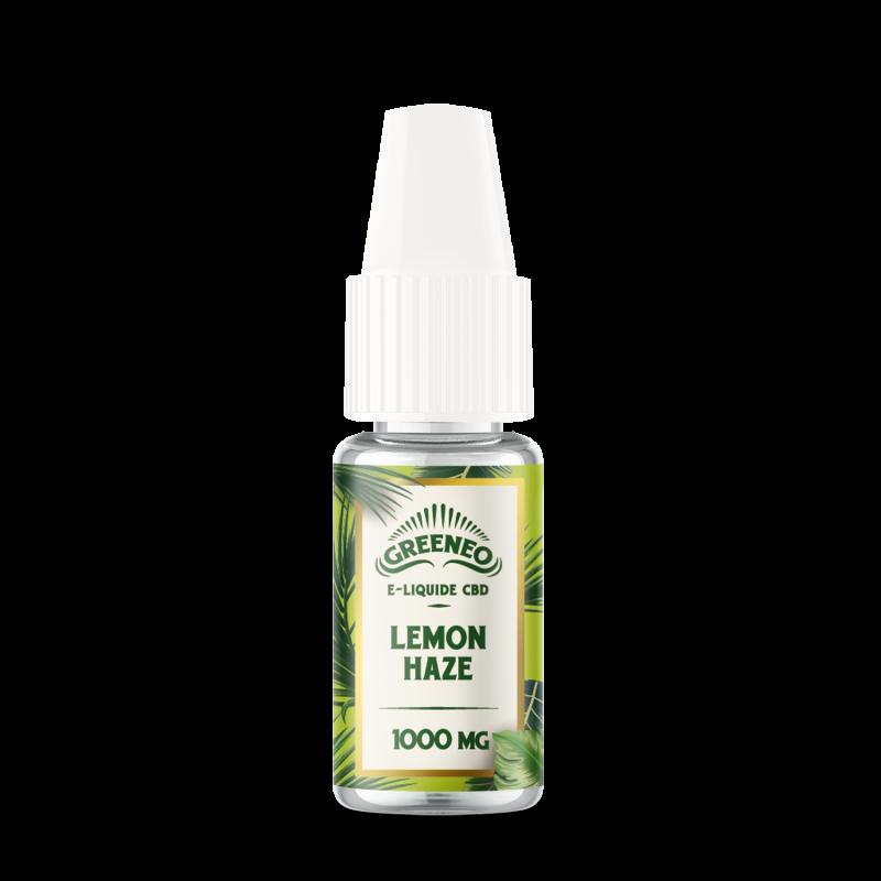 Le Lemon Haze est un e-liquide CBD full-spectrum de la marque française Greeneo.