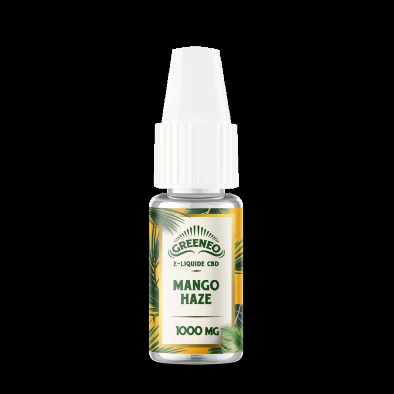 Le Mango Haze est un e-liquide CBD full-spectrum de la marque française Greeneo.