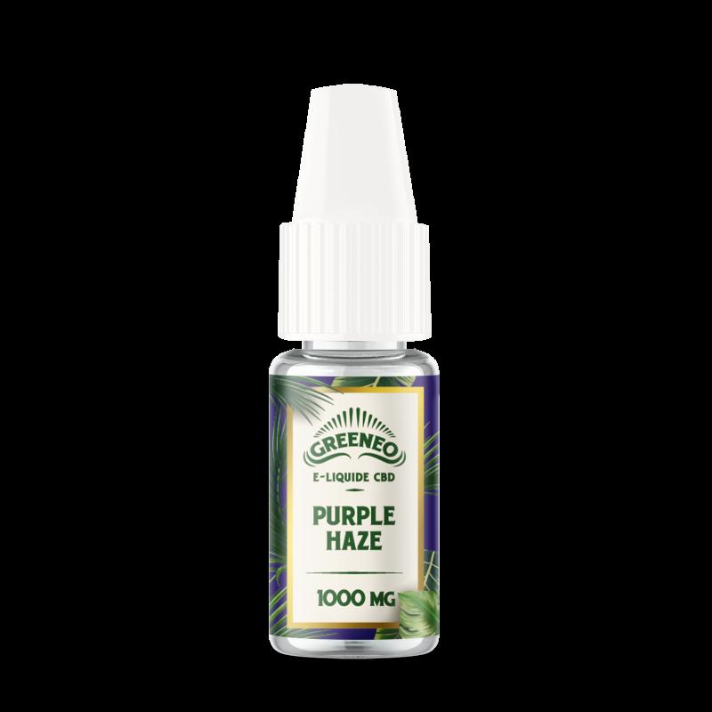 Le Purple Haze est un e-liquide CBD full-spectrum de la marque française Greeneo.