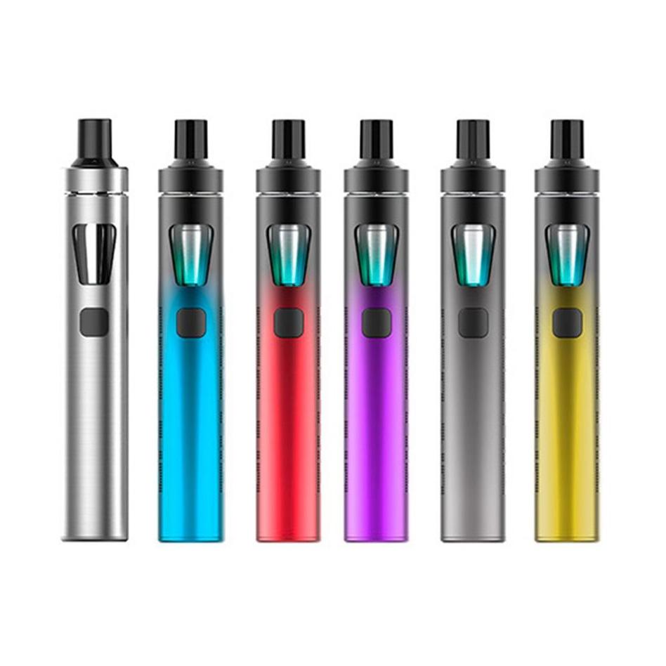 Différentes déclinaisons et coloris de la nouvelle cigarette électronique eGo Aio Eco Firendly de Joyetech.