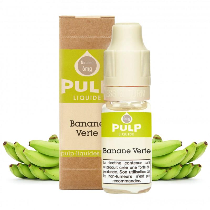 Flacon du eliquide Banane Verte de Pulp, fabricant français de eliquide pour le vapotage..