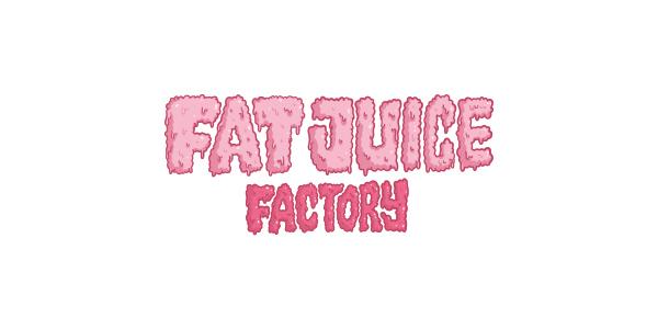 Logo de la marque française de eliquide pour le vapotage : Fat Juice Factory par Pulp, fabriquant français de eliquide.