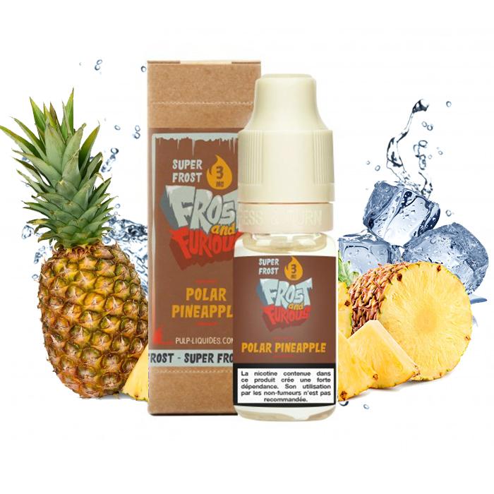 Flacon du eliquide Polar Pineapple Super Frost de Pulp, fabricant français de eliquide pour le vapotage.