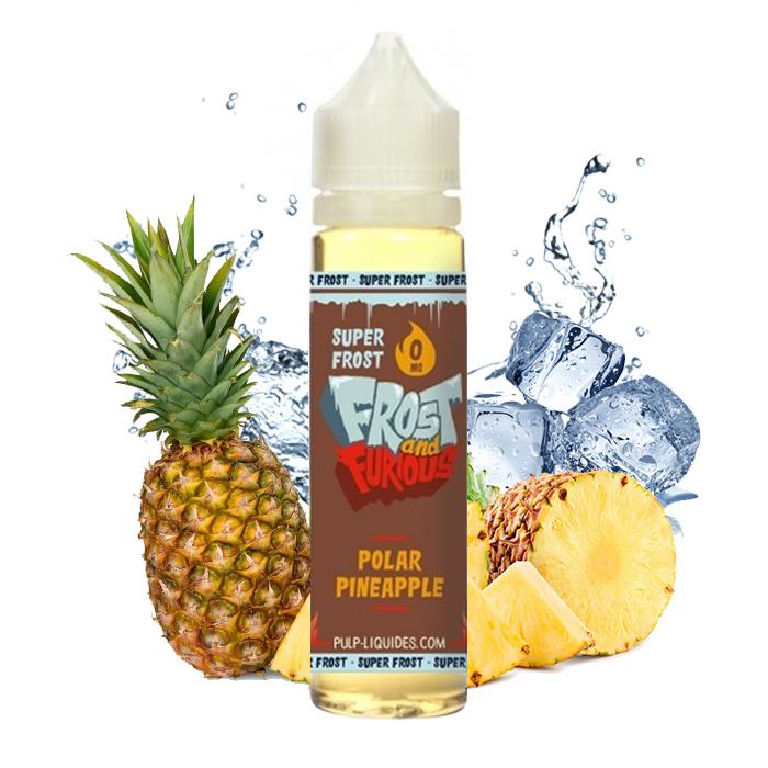 Flacon du eliquide Polar Pineapple Super Frost 50 ml de Pulp, fabricant français de eliquide pour le vapotage.