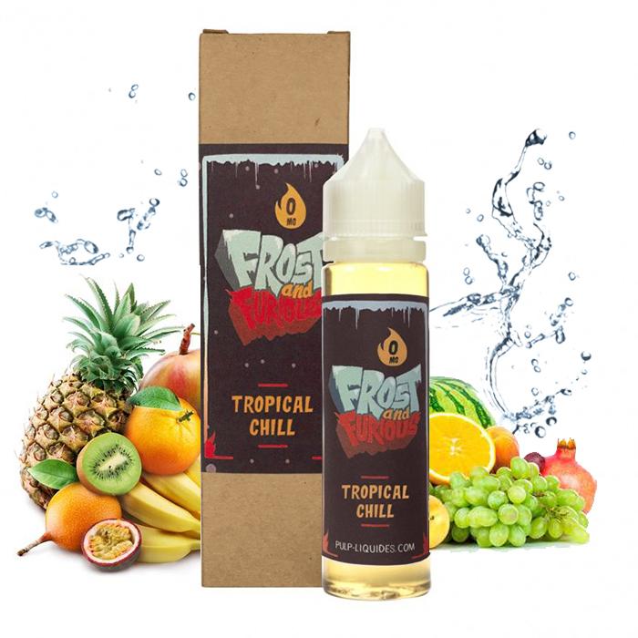 Flacon du eliquide Tropical Chill 50 ml de Pulp, fabricant français de eliquide pour le vapotage.