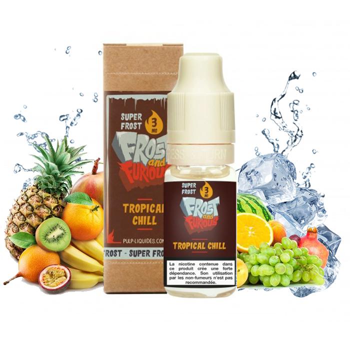 Flacon du eliquide Tropical Chill Super Frost de Pulp, fabricant français de eliquide pour le vapotage.