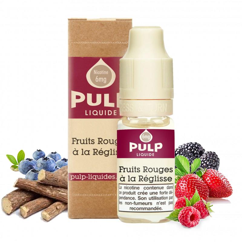 Flacon du eliquide Fruits Rouges à la Réglisse de Pulp, fabricant français de eliquide pour le vapotage..