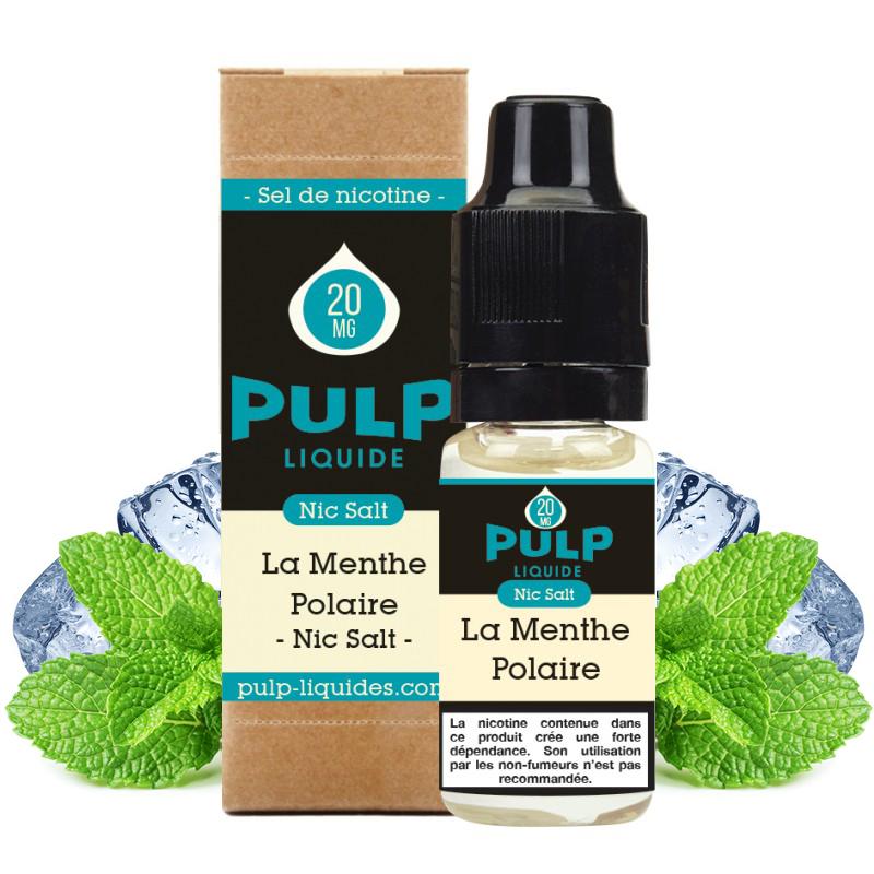 Flacon du eliquide La Menthe Polaire sel de nicotine de Pulp, fabricant français de eliquide pour le vapotage..