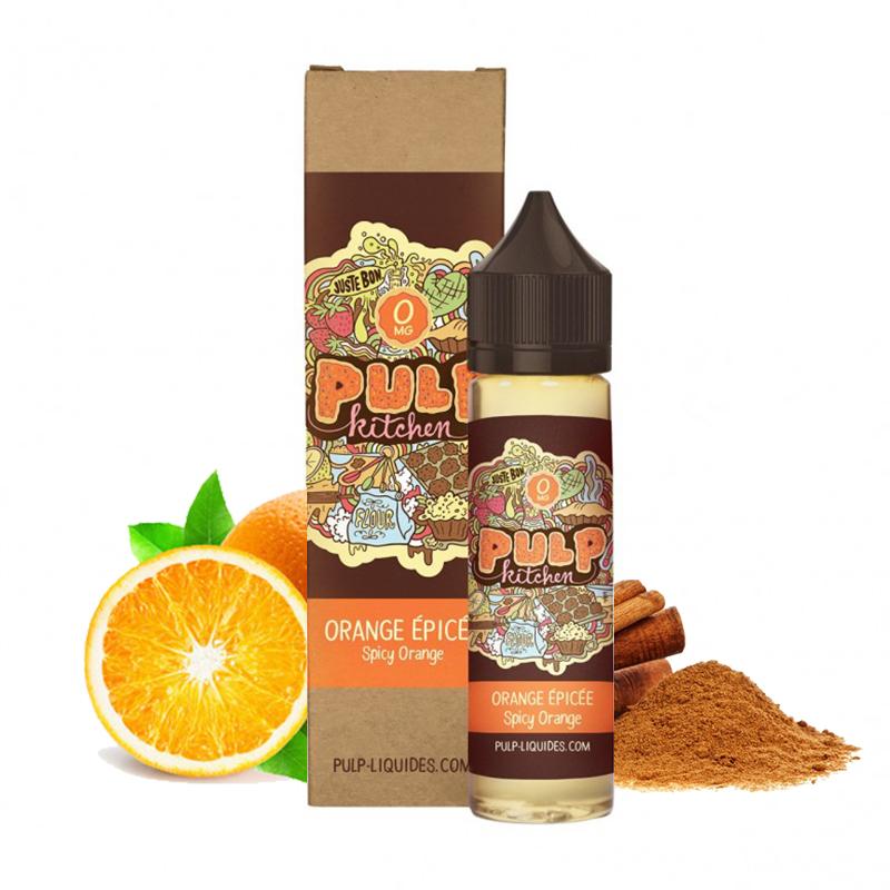 Flacon du eliquide Orange épicée de la gamme Pulp Kitchen par Pulp, fabricant français de eliquide pour le vapotage.