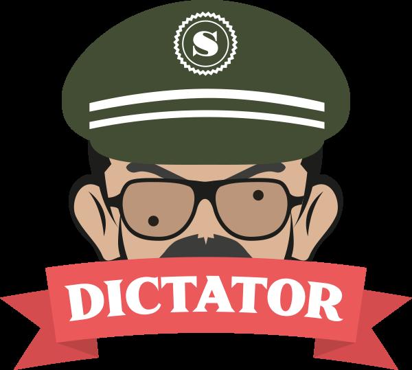 Logo de la marque française de e-liquides Dictator fabriqués par la société Savourea.