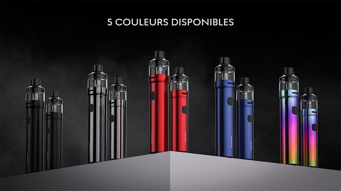 Le kit GTX GO 40 est disponible en 5 coloris : noir, gris, argenté, bleu ou rouge.