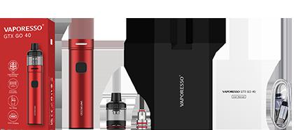 Packaging du kit pod GTX GO 40 par le fabricant Vaporesso.