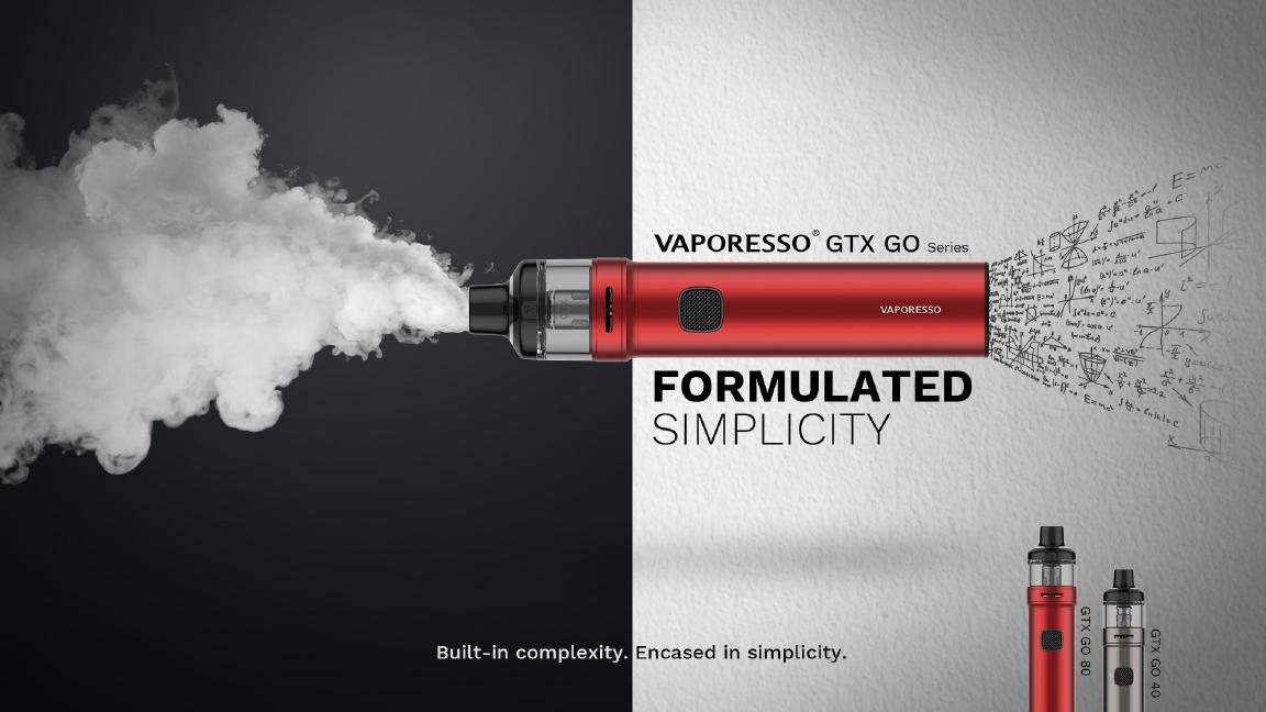 Présentation du kit pod de cigarette électronique de Vaporesso : le Kit GTX GO 40.