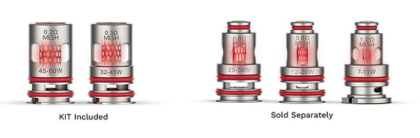 Résistances GTX compatibles avec le kit pod Swag PX80, cigarette électronique par Vaporesso.