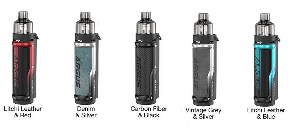 présentation des différents modèles de cigarette électronique Argus Pro par Voopoo.
