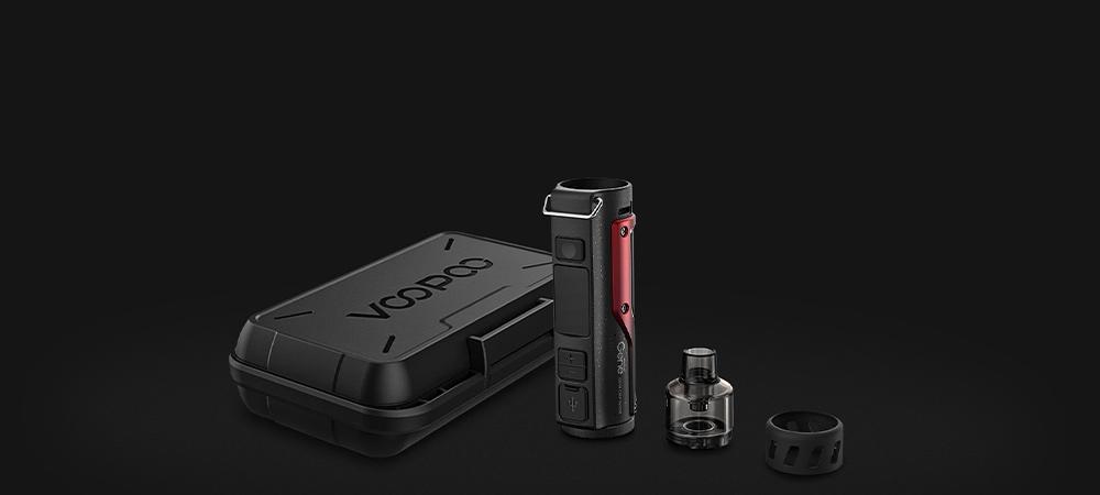 Bannière de présentation du kit cigarette électronique pod mod Argus X par Voopoo.